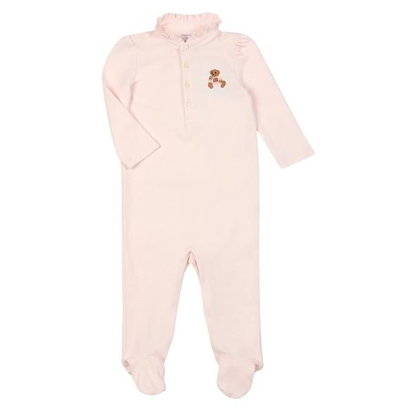 Polo Bear By Ralph Lauren Girls Pink Bear All In One