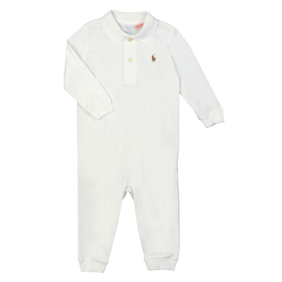 Polo Ralph Lauren Boys White Jersey Coverall main image