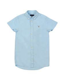 Gant Boys Blue Archive Oxford Short Sleeve Shirt