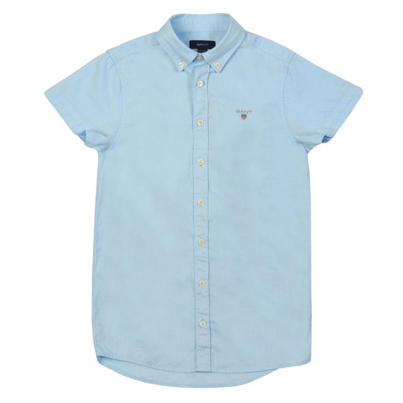 Gant Boys Blue Archive Oxford Short Sleeve Shirt main image