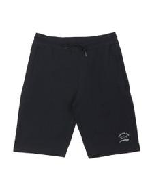 Paul & Shark Mens Blue Reflective Logo Jersey Short