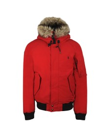 Polo Ralph Lauren Womens Red Down Bomber Parka