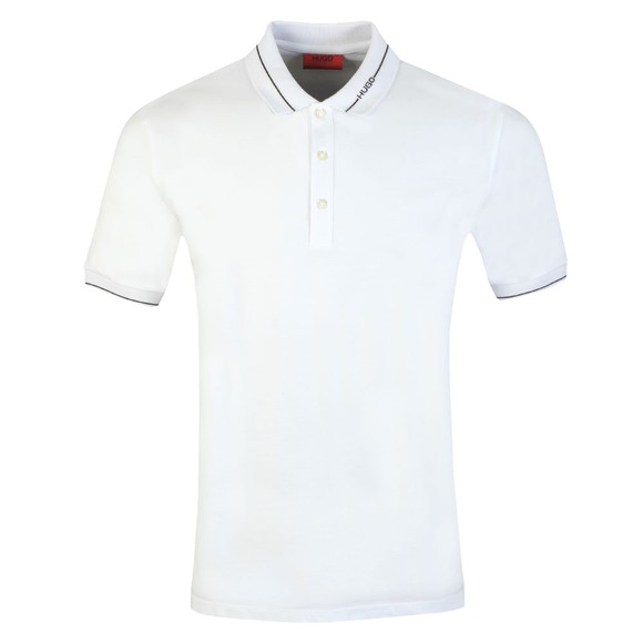 HUGO Mens White Demoso202 Polo Shirt main image