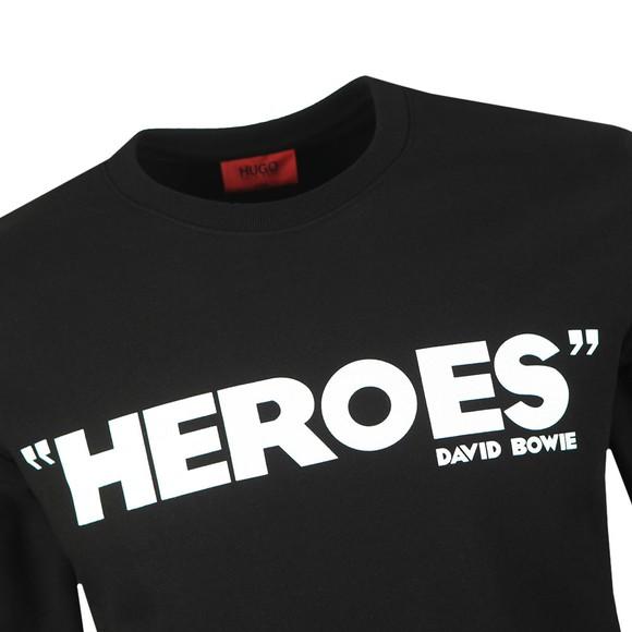 HUGO Mens Black Deroes Sweatshirt