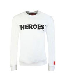 HUGO Mens White Deroes Sweatshirt
