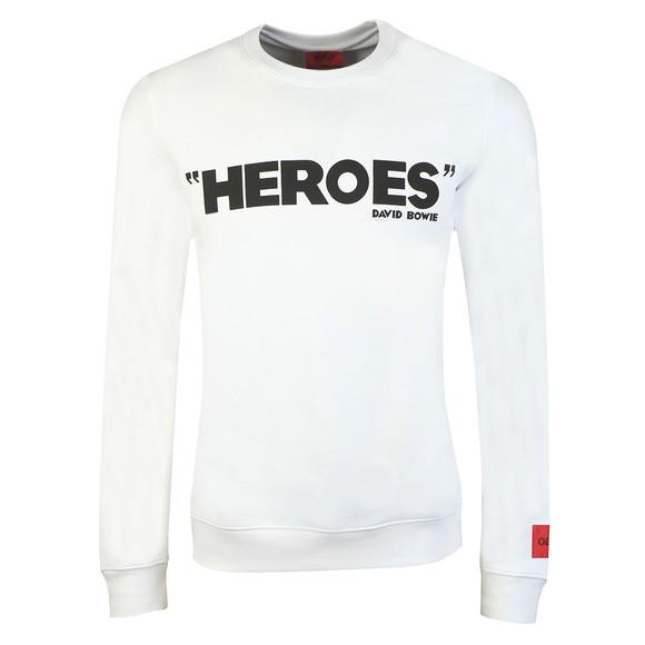 HUGO Mens White Deroes Sweatshirt main image