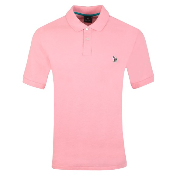 PS Paul Smith Mens Pink Zebra Polo Shirt