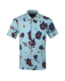 PS Paul Smith Mens Blue S/S Flower Print Shirt