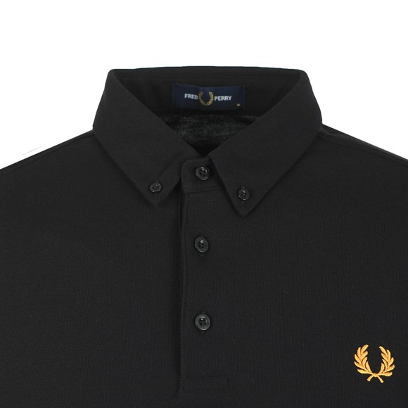 Fred Perry Mens Black Button Down Polo Shirt
