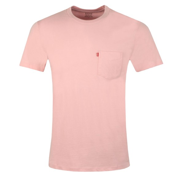 Levi's Mens Pink Sunset Pocket T-Shirt main image