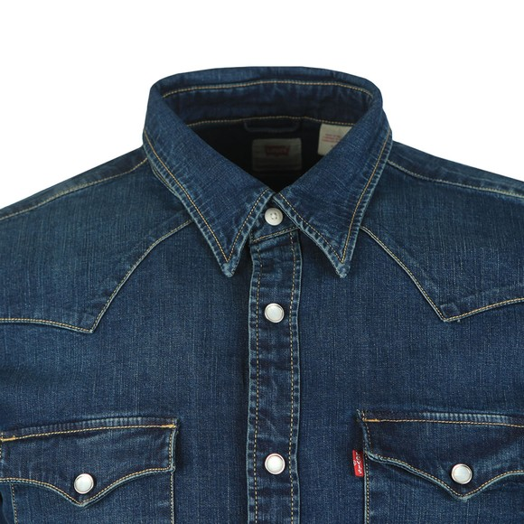 Levi's Mens Blue Barstow Denim Shirt main image