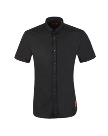HUGO Mens Black Empson-W Short Sleeve Shirt