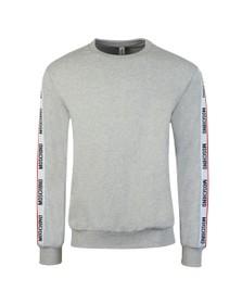 Moschino Mens Grey Tape Crew Sweatshirt