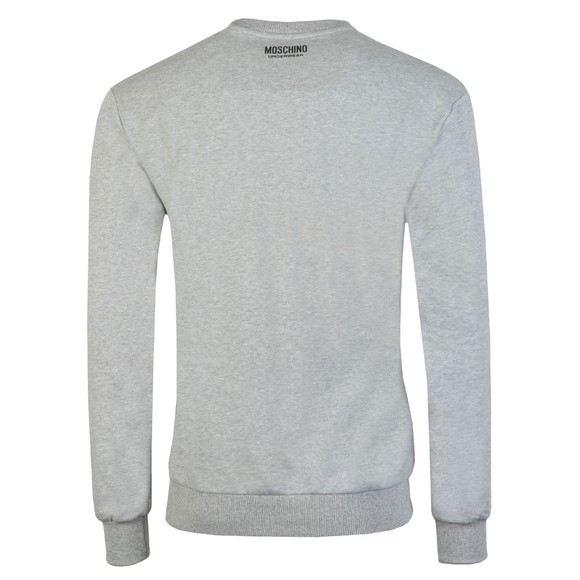 Moschino Mens Grey Tape Crew Sweatshirt