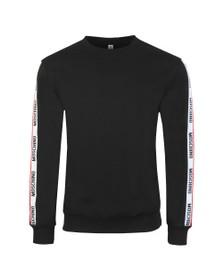 Moschino Mens Black Tape Crew Sweatshirt
