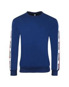 Moschino Mens Blue Tape Crew Sweatshirt