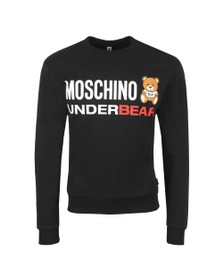 Moschino Mens Black Underbear Sweatshirt