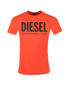 Diesel Mens Orange Diego Logo T Shirt