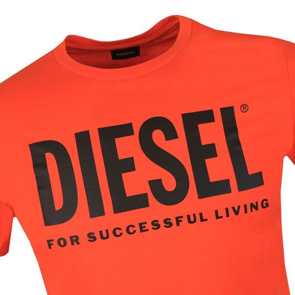 Diesel Mens Orange Diego Logo T Shirt main image