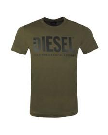 Diesel Mens Green Diego Logo T Shirt