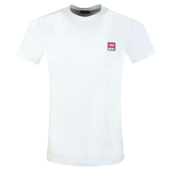 Diesel Mens White Diego Division T-Shirt main image
