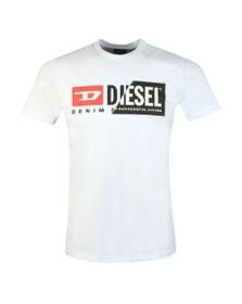Diesel Mens White Diego Cuty T-Shirt