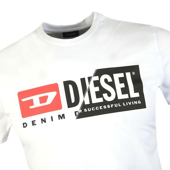 Diesel Mens White Diego Cuty T-Shirt main image