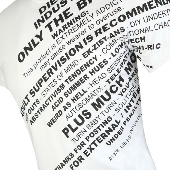 Diesel Mens White Diego S3 T-Shirt main image