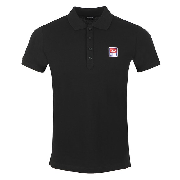 Diesel Mens Black Kal Patch Polo Shirt