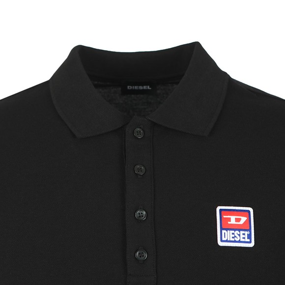 Diesel Mens Black Kal Patch Polo Shirt main image