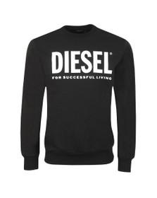 Diesel Mens Black S-GIR Division Logo Sweatshirt