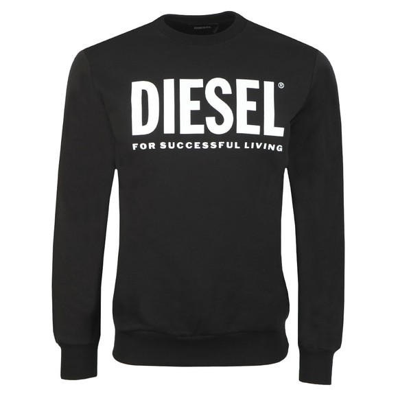 Diesel Mens Black S-GIR Division Logo Sweatshirt main image