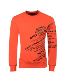 Diesel Mens Orange Girk Sweatshirt
