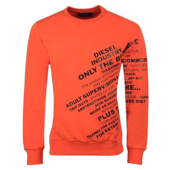 Diesel Mens Orange Girk Sweatshirt