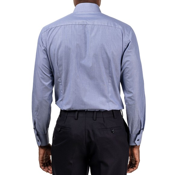 Eton Mens Blue Tile Detail Plain Shirt main image