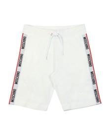 Moschino Mens White Tape Jersey Short