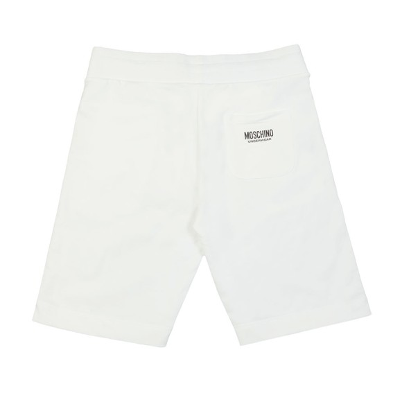 Moschino Mens White Tape Jersey Short