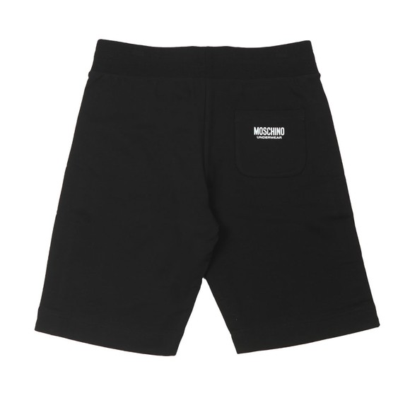 Moschino Mens Black Tape Jersey Short