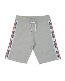 Moschino Mens Grey Tape Jersey Short