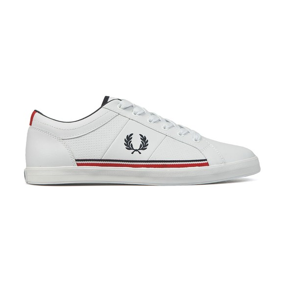 Fred Perry Mens White Baseline Perf Trainer