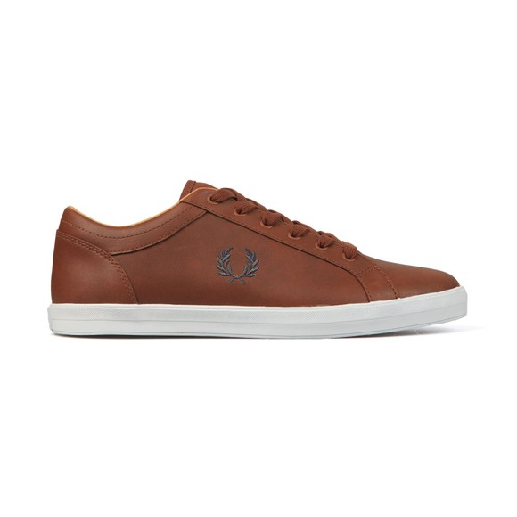 Fred Perry Mens Brown Baseline Leather Trainer