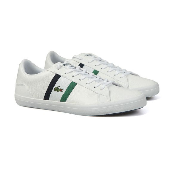 Lacoste Mens White Lerond Leather Trainer main image