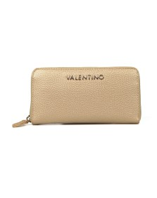 Valentino by Mario Womens Gold Divina Zip Around Purse