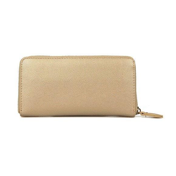 Valentino Bags Womens Gold Divina Zip Around Purse