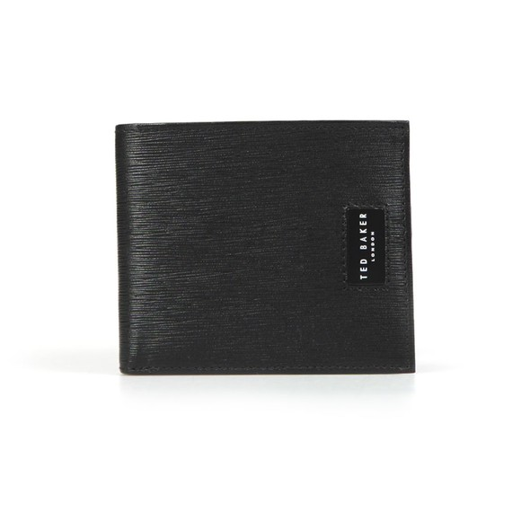Ted Baker Mens Black Woodgrain Bifold Wallet