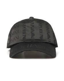 Emporio Armani Mens Black Logo Cap