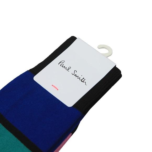 Paul Smith Mens Black Victor Stripe Sock