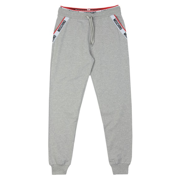 Moschino Mens Grey Tape Pocket Jogger