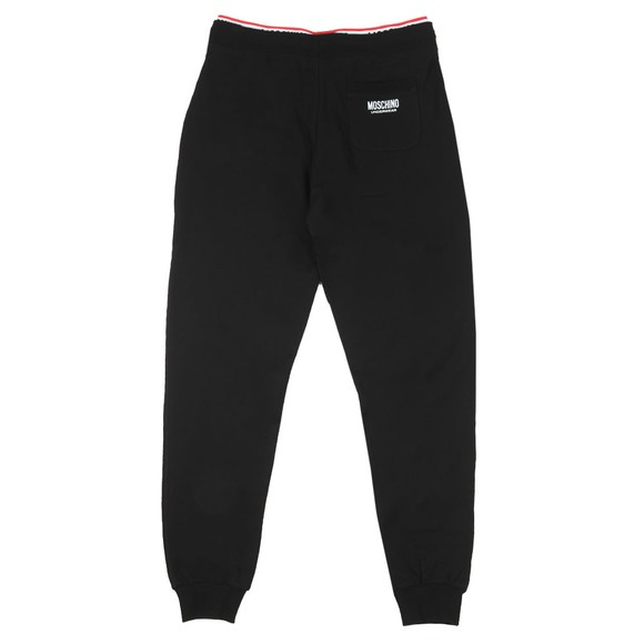 Moschino Mens Black Tape Pocket Jogger