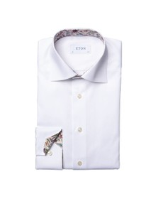 Eton Mens White Valley Of Flowers Shirt